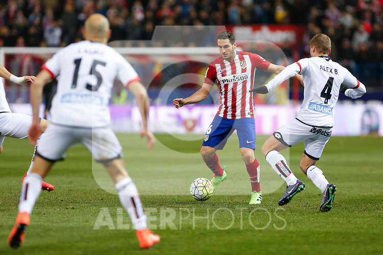 Atletico de Madrid´s Koke during 2015-16 La Liga match between Atletico de Madrid and Deportivo de la Coruna at Vicente Calderon stadium in Madrid, Spain. March 12, 2016. (ALTERPHOTOS/Victor Blanco)