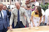 Princess Kate and Prince William at German Market in Heidelberg