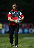 Gloucester Rugby Head Coach Johan Ackermann looks on during the pre-match warm-up. Gallagher Premiership Semi Final, between Saracens and Gloucester Rugby on May 25, 2019 at Allianz Park in London, England. Photo by: Patrick Khachfe / JMP