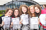 Junior Cert students from Mercy Mounthawk Secondary collecting their results on Wednesday, from left: Maeve Lyons, Emma McCarthy, Grace Egan, Aoife Garvey and Leonie O'Connor..