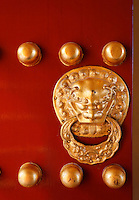 Detail of door from Ming dynasty architecture, Temple of Heaven Park, Beijing, China, Asia