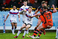 Picture by Alex Whitehead/SWpix.com - 27/04/2018 - Rugby League - Betfred Super League - Castleford Tigers v Wakefield Trinity - Mend-A-Hose Jungle, Castleford, England - Wakefield's Tom Johnstone in action.