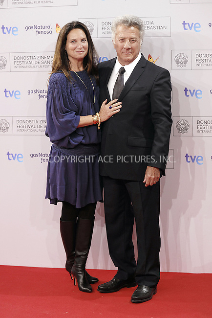 WWW.ACEPIXS.COM....US SALES ONLY....Actor Dustin Hoffman and his wife Lisa Gottsegen arrive at the 60th San Sebastian International Film Festival on September 27, 2012 in San Sebastian, Spain....By Line: FD/ACE Pictures......ACE Pictures, Inc...tel: 646 769 0430..Email: info@acepixs.com..www.acepixs.com