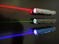 Pictured: Laser pens. STOCK PICTURE<br /> Re: 54 year old Michael Bisgrove who endangered the life of 180 passengers on a Boeing 747 by shining a powerful laser into the cockpit from his bedroom in Boverton, Vale of Glamorgan, has been jailed for 32 months at Newport Crown Court, Wales, UK.