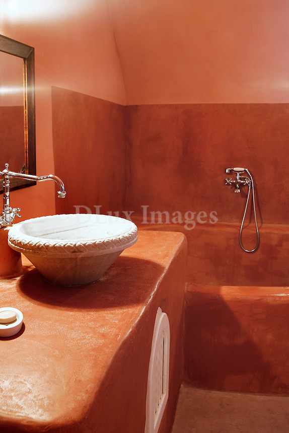 traditional bathroom with marble washbasin