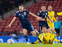 19th November 2019; Hampden Park, Glasgow, Scotland; European Championships 2020 Qualifier, Scotland versus Kazakhstan; Aybol Abiken of Kazakhstan fouls James Forrest of Scotland - Editorial Use