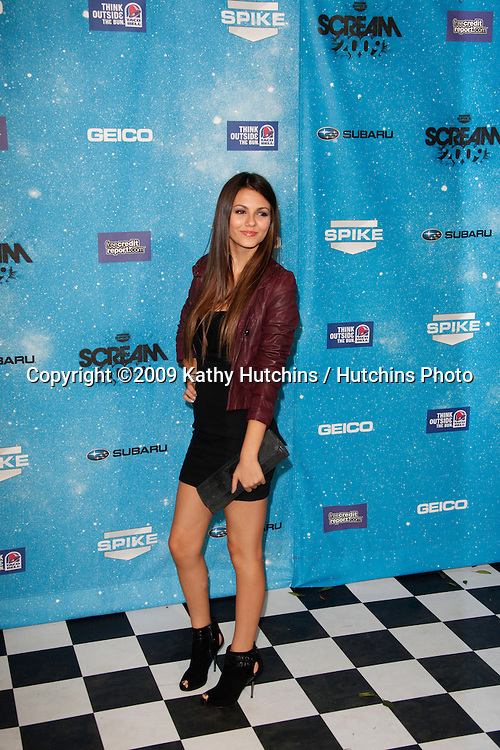 Victoria Justice.arriving at the  Scream Awards 2009.Greek Theater.Los Angeles,  CA.October 17, 2009.©2009 Kathy Hutchins / Hutchins Photo.