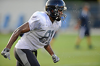 12 August 2011:  FIU's Jairus Williams (81) runs a route during a scrimmage held as part of the FIU 2011 Panther Preview at University Park Stadium in Miami, Florida.