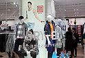 March 14, 2017, Tokyo, Japan - Newly concepted Uniqlo &quot;Uniqlo Move&quot; is displayed for presss at the Takashimaya department store in Tokyo's Shinjuku district on Monday, March 14, 2017. <br /> The Uniqlo Move which has stylish sports outfits for active life will open March 15.    (Photo by Yoshio Tsunoda/AFLO) LwX -ytd-