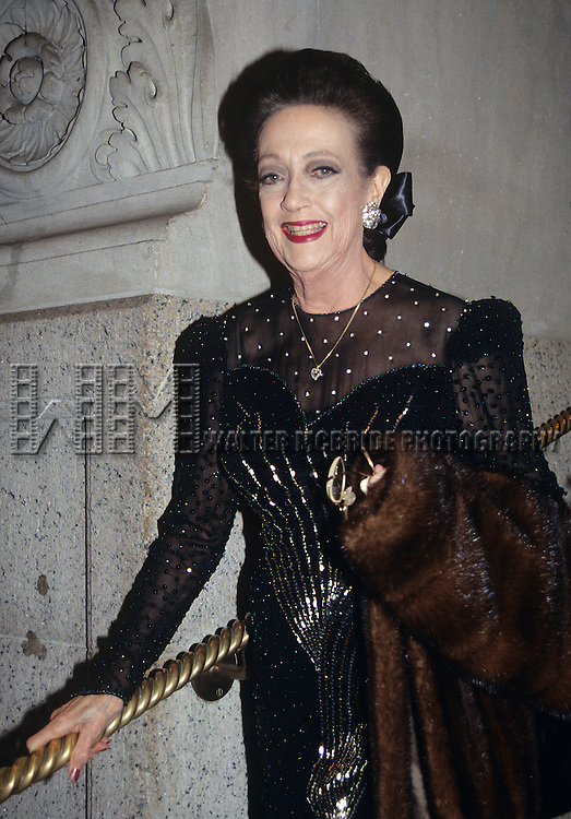 Dorothy Lamour pictured in New York City in 1990.