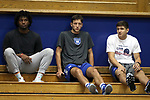 DURHAM, NC - SEPTEMBER 01: Grayson Allen and a couple Duke Men's Basketball teammates watch some volleyball. The Northwestern University Wildcats played the University of South Carolina Gamecocks on September 1, 2017 at Cameron Indoor Stadium in Durham, NC in a Division I women's college volleyball match. Northwestern won 3-1 (13-25, 25-18, 25-18, 25-19).