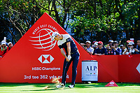 Justin Rose (ENG) on the 3rd tee during the final round at the WGC HSBC Champions 2018, Sheshan Golf CLub, Shanghai, China. 28/10/2018.<br /> Picture Fran Caffrey / Golffile.ie<br /> <br /> All photo usage must carry mandatory copyright credit (&copy; Golffile | Fran Caffrey)