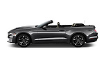 Car driver side profile view of a 2018 Ford Mustang EcoBoost 2 Door Convertible