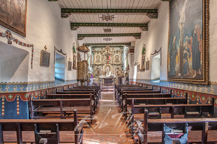 USA, CA, San Juan Capistrano, Misison San Juan Capistrano, Serra's Chapel Interior