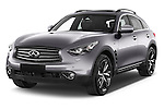 2015 Infiniti QX70 S 5 Door Suv Angular Front stock photos of front three quarter view