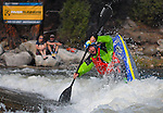 May 30, 2016 - Buena Vista, Colorado, U.S. -  Team Jackson freestyle kayaker, Stephen Wright, competes in the Men's Freestyle Kayak competition during the CKS Paddlefest, one of the Rocky Mountain Region's first adventure events of the summer in Buena Vista, Colorado.