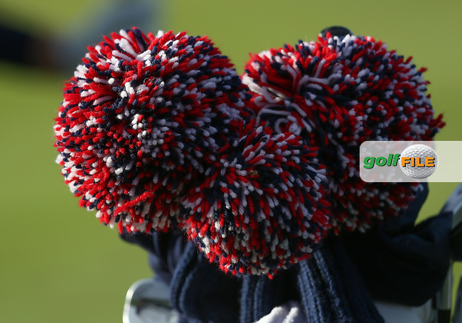 Close-up of USA head covers during the 2014 Ryder Cup from Gleneagles, Perthshire, Scotland. Picture:  David Lloyd / www.golffile.ie