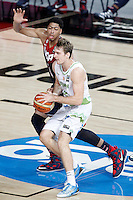 Slovenia's Zoran Dragic (f) and USA's Anthony Davis during 2014 FIBA Basketball World Cup Quarter-Finals match.September 9,2014.(ALTERPHOTOS/Acero)