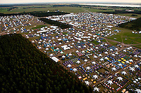 """The camp-site from north-east. Closest to the camera is the subcamp """"Winter"""". Photo: Kim Rask/Scouterna"""