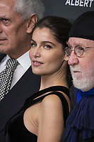 "Marco Tronchetti Provera (Pirelli's President), Laetitia Casta, Albert Watson attend the official presentation of the Presentation of the Pirelli Calendar 2018 ""The cal"" held at the Pirelli headquarter. Milan (Italy) on december 5, 2018. Credit: Action Press/MediaPunch ***FOR USA ONLY***"