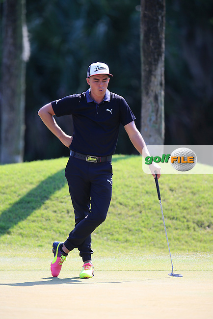 Rickie Fowler (USA) during round 1of the Players, TPC Sawgrass, Championship Way, Ponte Vedra Beach, FL 32082, USA. 12/05/2016.<br /> Picture: Golffile | Fran Caffrey<br /> <br /> <br /> All photo usage must carry mandatory copyright credit (&copy; Golffile | Fran Caffrey)