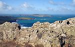 Carn Llidi tor view to Ramsey Island, St David's Head, Pembrokeshire, Wales