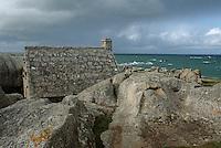 Europe/France/Bretagne/29/Finistère/Env. de Kerlouan: Côte rocheuses et maison de douanier à Ménéham