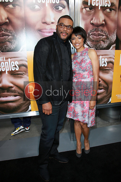 Tyler Perry and Tina Gordon Chism<br />