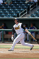 Jacksonville Suns catcher Chadd Krist (11) at bat during a game against the Tennessee Smokies at Bragan Field on the Baseball Grounds of Jacksonville on June 13, 2015 in Jacksonville, Florida.  Tennessee defeated Jacksonville 12-3. (Robert Gurganus/Four Seam Images)