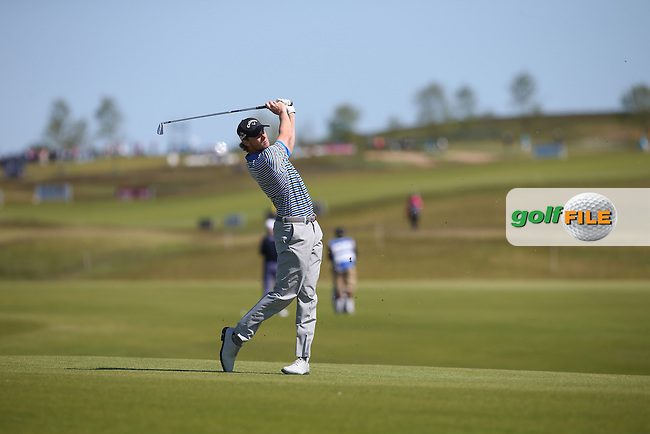 Thomas Pieters (BEL) plays second shot to the 8th during Round Two of the 2015 Nordea Masters at the PGA Sweden National, Bara, Malmo, Sweden. 05/06/2015. Picture David Lloyd | www.golffile.ie