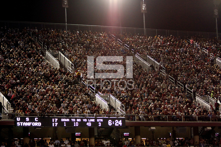STANFORD, CA - NOVEMBER 15: Fans of the Stanford Cardinal during Stanford's 45-23 loss against the USC Trojans on November 15, 2008 at Stanford Stadium in Stanford, California.