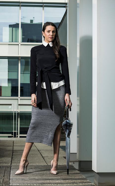 Sunday Mail , Fashion with Cimon, Office Ware , Model Zahra Neis-Tzavaras from Finesse Models.  Photo: Nick Clayton