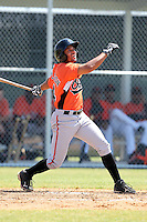 Baltimore Orioles minor league player Auburn Donaldson #84 during a spring training game vs the Boston Red Sox at the Buck O'Neil Complex in Sarasota, Florida;  March 22, 2011.  Photo By Mike Janes/Four Seam Images