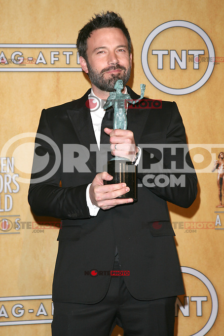 LOS ANGELES, CA - JANUARY 27: Ben Affleck in the press room at The 19th Annual Screen Actors Guild Awards at the Los Angeles Shrine Exposition Center in Los Angeles, California. January 27, 2013. Credit: mpi27/MediaPunch Inc. /NortePhoto /NortePhoto