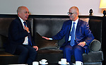 Palestinian Prime Minister Rami Hamdallah meets with Swiss Federal President Ueli Maurer in Davos, Switzerland, January 23, 2019. Photo by Prime Minister Office