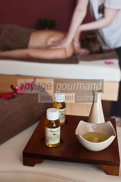 Afrique/Afrique du Nord/Maroc/Essaouira: Hôtel Sofitel - Massage à l'Huile d'Argan au Spa