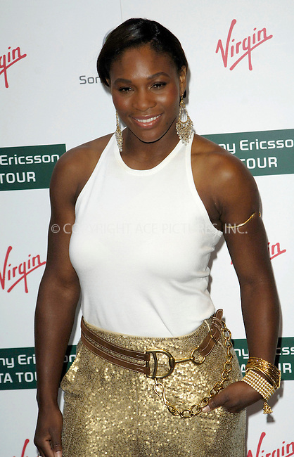 WWW.ACEPIXS.COM . . . . .  ..... . . . . US SALES ONLY . . . . .....June 18 2009, London....Serena Williams at the Ralph Lauren Sony Ericsson WTA Tour Pre-Wimbledon Party at The Roof Gardens on June 18 2009 in London......Please byline: FAMOUS-ACE PICTURES... . . . .  ....Ace Pictures, Inc:  ..tel: (212) 243 8787 or (646) 769 0430..e-mail: info@acepixs.com..web: http://www.acepixs.com