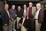 Joe Dombroski, Bob Luckey, Stan Wolfson, Don Norkett, Dick Kraus and Tom Maguire seen gathered around John Cornell at his retirement party on October 10, 2000. Photo by Jim Peppler. Copyright/Jim Peppler-2000