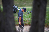 Xander Schauffele (USA) reacts to his shot from the trap on 7  during day 3 of the World Golf Championships, Dell Match Play, Austin Country Club, Austin, Texas. 3/23/2018.<br /> Picture: Golffile | Ken Murray<br /> <br /> <br /> All photo usage must carry mandatory copyright credit (&copy; Golffile | Ken Murray)