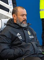 Wolverhampton Wanderers head coach Nuno Espirito Santo  <br /> <br /> Photographer David Horton/CameraSport<br /> <br /> The Premier League - Brighton and Hove Albion v Wolverhampton Wanderers - Saturday 27th October 2018 - The Amex Stadium - Brighton<br /> <br /> World Copyright &copy; 2018 CameraSport. All rights reserved. 43 Linden Ave. Countesthorpe. Leicester. England. LE8 5PG - Tel: +44 (0) 116 277 4147 - admin@camerasport.com - www.camerasport.com
