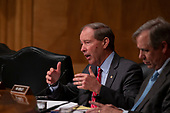 United States Senator Tom Udall, Democrat of New Mexico, asks a witness a question during a United States Senate hearing on Presidential War Powers at the United States Capitol in Washington, DC on June 6, 2018. Credit: Alex Edelman / CNP