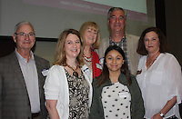 NWA Democrat-Gazette/CARIN SCHOPPMEYER Gary Anderson (from left), Cindy Beeman, Jane Anderson, Claudia Rodriguez, Keven (cq) Anderson and Lisa Anderson attend the scholarship luncheon.