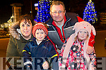 Rebecca Roche, Adam Roche, Maurice Roche and Grace Roche from Ashe Grove Tralee at the fireworks on Denny Street on Saturday night