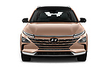 Car photography straight front view of a 2019 Hyundai Nexo - 5 Door SUV Front View