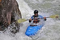 Kayaking on the Gallatin River outside Big Sky Montana