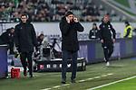 01.12.2019, Volkswagen Arena, Wolfsburg, GER, 1.FBL, VfL Wolfsburg vs SV Werder Bremen<br /> <br /> DFL REGULATIONS PROHIBIT ANY USE OF PHOTOGRAPHS AS IMAGE SEQUENCES AND/OR QUASI-VIDEO.<br /> <br /> im Bild / picture shows<br /> Oliver Glasner (Trainer / Cheftrainer VfL Wolfsburg) in Coachingzone / an Seitenlinie, <br /> <br /> Foto © nordphoto / Ewert