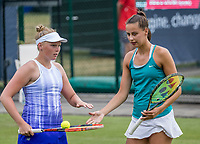 Den Bosch, Netherlands, 13 June, 2017, Tennis, Ricoh Open, Women's doubles: Kelly Versteeg (NED) / Erika Vogelsang (NED) (R)<br /> Photo: Henk Koster/tennisimages.com