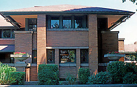F.L. Wright: Darwin D. Martin House. South Elevation.  Photo '88.