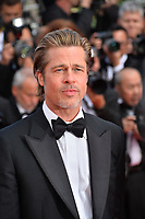 "CANNES, FRANCE. May 21, 2019: Brad Pitt at the gala premiere for ""Once Upon a Time in Hollywood"" at the Festival de Cannes.<br /> Picture: Paul Smith / Featureflash"