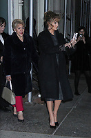 NEW YORK, NY - December 12,: Jennifer Lopez on her iPhone with mother Guadalupe seen in New York City while promoting her new film, Second Act on December 12, 2018 Credit: RW/MediaPunch